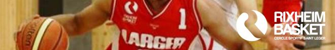 Basketteur du CSSL Rixheim lors d'un match de basket