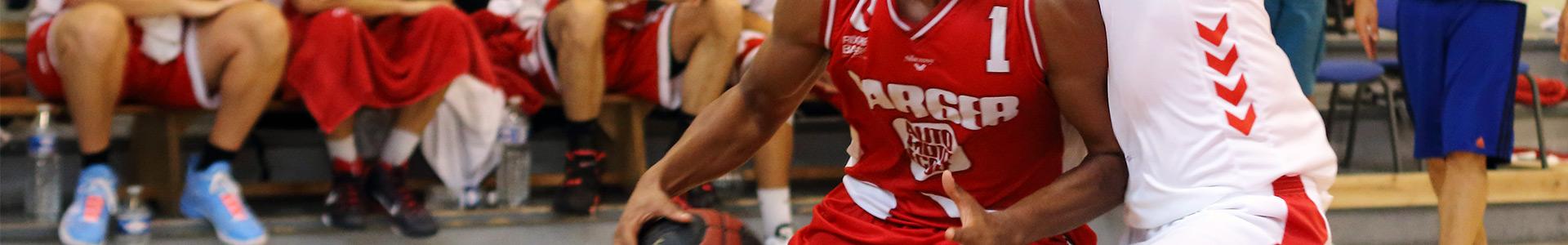 Joueur Basket pendant match au club cssl Rixheim